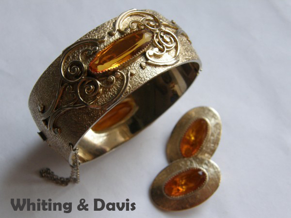 Винтажный комплект украшений от Whiting & Davis