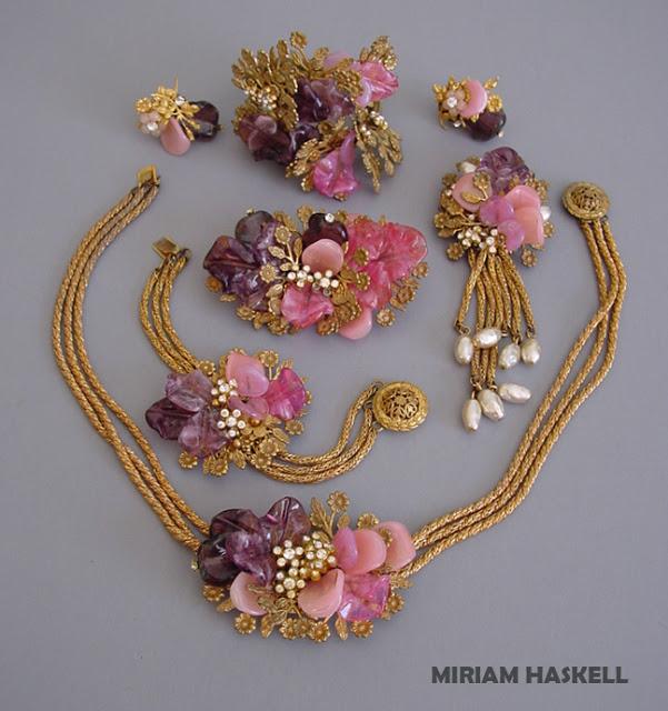 Винтажный комплект украшений от Miriam Haskell