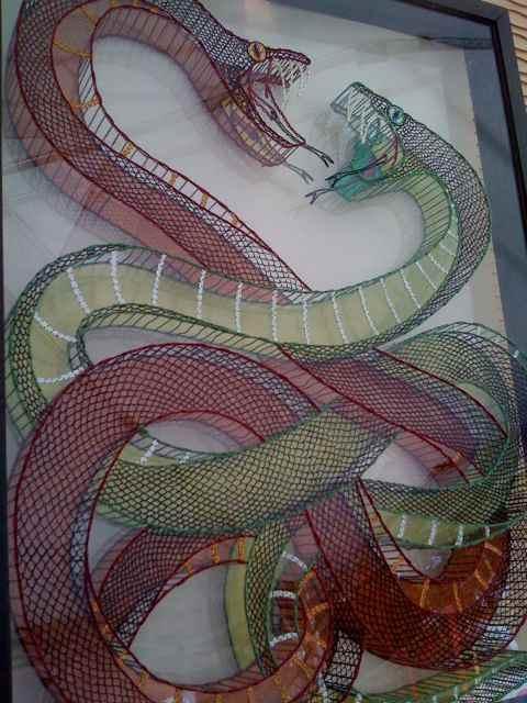 Сара Кейз. 3D вышивка органическим стеклом.