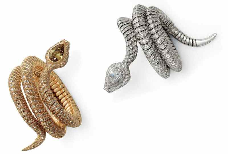 Металлические браслеты-змеи