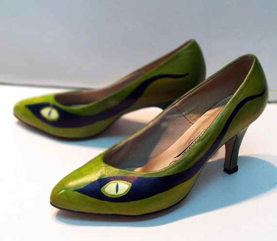 Оригинальные туфли-змеи. Мишель Скотт (США)