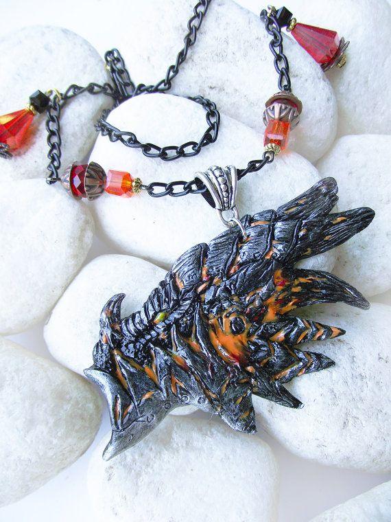 Шикарный кулон с головой дракона из мира Warcraft