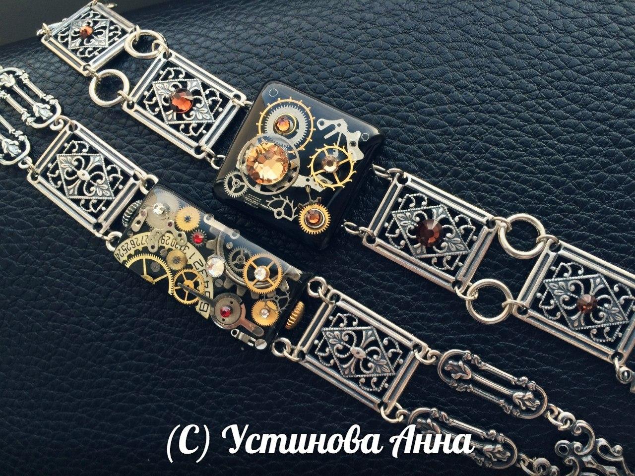 Сегментные браслеты в стиле romantic steampunk