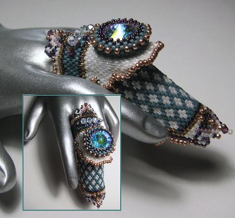 украшение на палец из бисера, Эрин Симонетти (Eryn Simonetti)