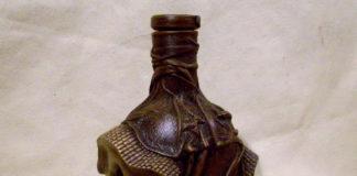 Мастер-класс по декорированию бутылки кожей