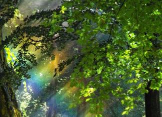 Кулон «Капля на радуге»