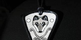 Кулон из кожи «Кельтика. Волк»
