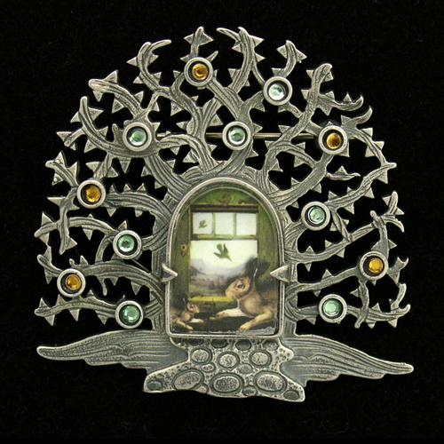 Миниатюрная графика в серебре — Bijou Graphique Дон Эстрин (Dawn Estrin) и Джорджа Уилсона (George Wilson).